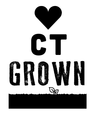 heart C T grown logo black and white