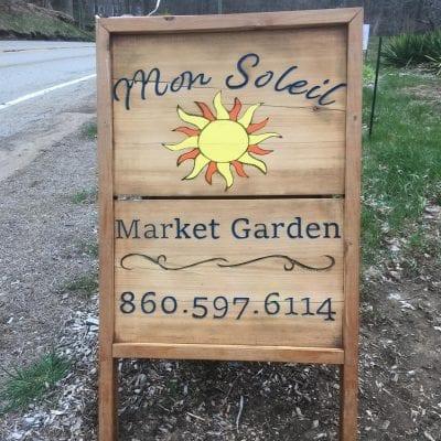 sign that says Mon Soleil Market Garden